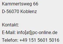Bitte Bilder einschalten - info[at]jpc-online.de